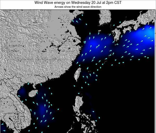 Taiwan Wind Wave energy on Monday 27 May at 2am CST