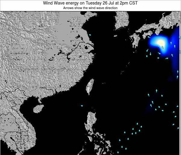 Taiwan Wind Wave energy on Thursday 24 Apr at 2am CST