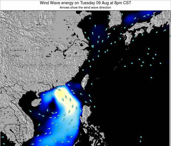 Taiwan Wind Wave energy on Monday 16 Dec at 2am CST