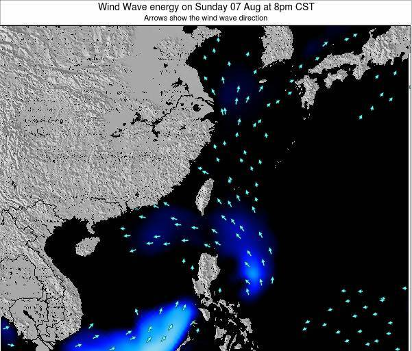 Taiwan Wind Wave energy on Thursday 01 Jun at 2am CST