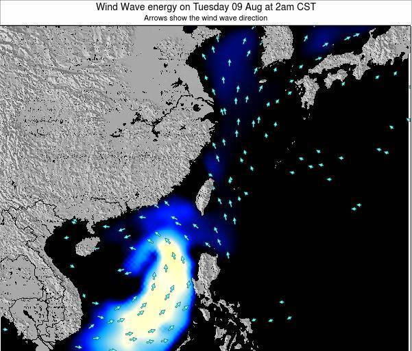 Taiwan Wind Wave energy on Thursday 13 Mar at 2am CST