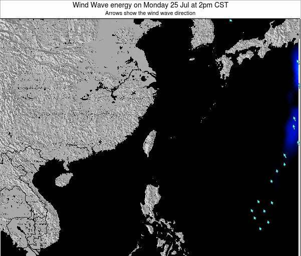 Taiwan Wind Wave energy on Wednesday 22 Feb at 8am CST