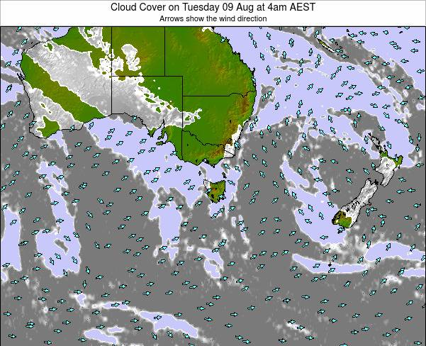 Victoria Cloud Cover on Sunday 02 Oct at 10am AEST