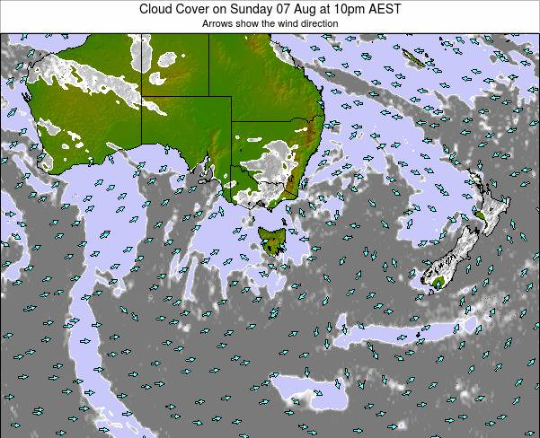 Victoria Cloud Cover on Wednesday 30 Apr at 10am EST