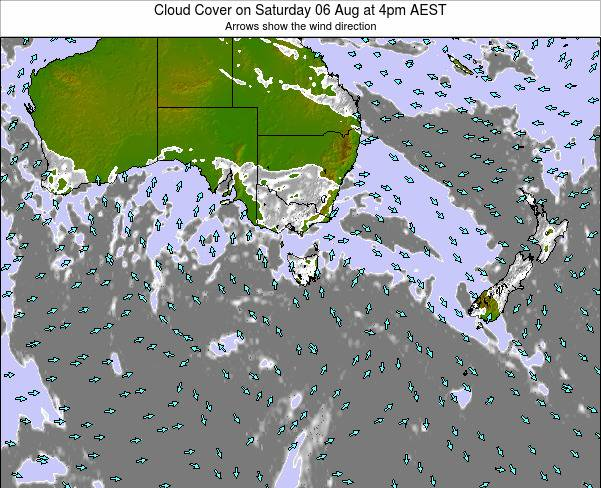 Victoria Cloud Cover on Thursday 17 Apr at 4pm EST