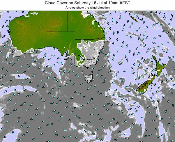 Vitória Cloud Cover on Wednesday 29 Jul at 10pm AEST