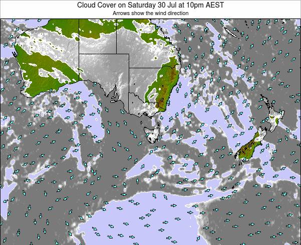 Victoria Cloud Cover on Saturday 02 Aug at 4am EST