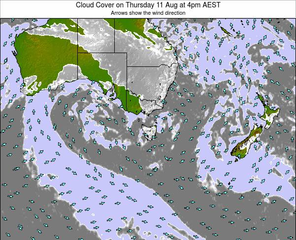 Victoria Cloud Cover on Tuesday 29 Apr at 4am EST