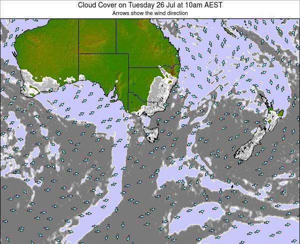 Victoria Cloud Cover on Sunday 05 Apr at 11am EST