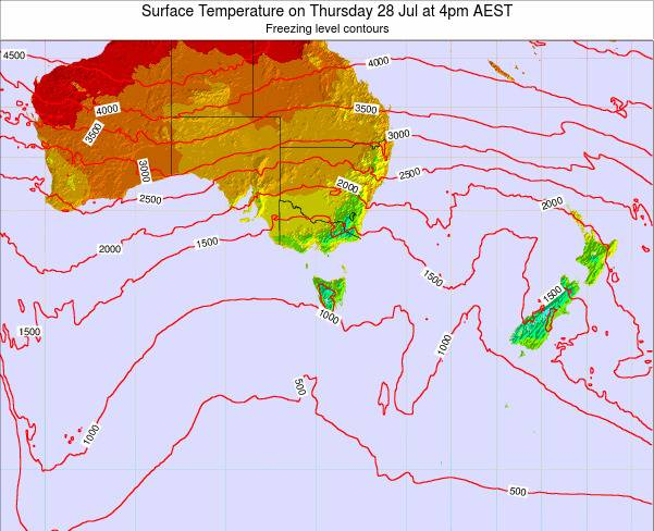 Victoria Surface Temperature on Monday 16 Dec at 5am EST