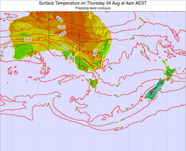 Victoria Surface Temperature on Wednesday 23 Apr at 4pm EST
