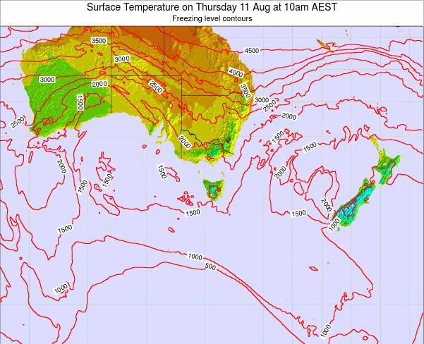 Victoria Surface Temperature on Monday 31 Jul at 10am AEST