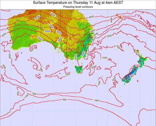 Victoria Surface Temperature on Thursday 30 May at 4pm EST