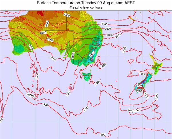 Victoria Surface Temperature on Wednesday 26 Jun at 10am EST