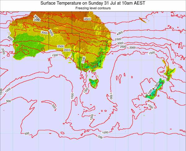 Victoria Surface Temperature on Saturday 01 Jun at 10am EST
