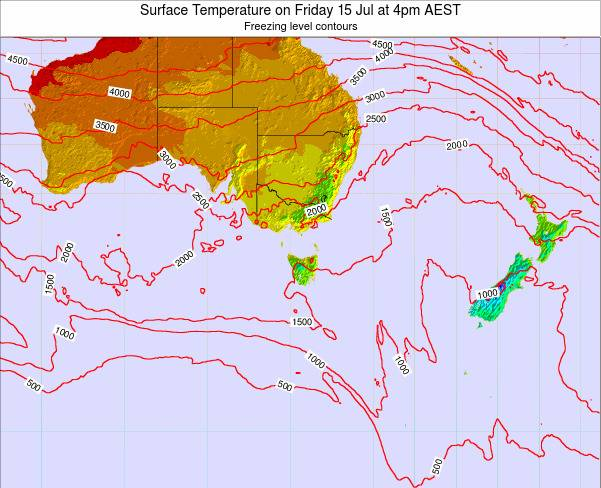 Victoria Surface Temperature on Tuesday 02 Sep at 10pm EST