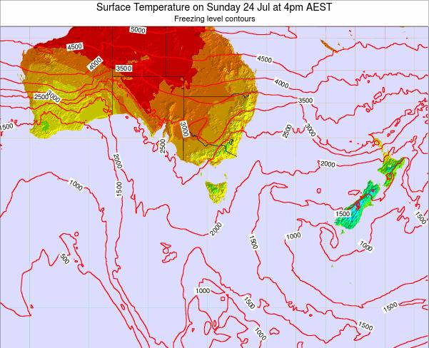Victoria Surface Temperature on Saturday 26 Jul at 10pm EST