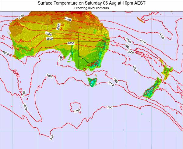 Victoria Surface Temperature on Saturday 29 Nov at 5pm EST