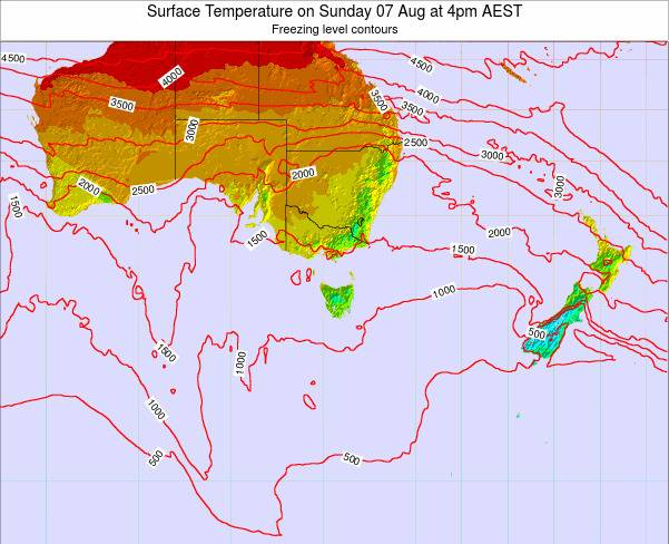 Victoria Surface Temperature on Sunday 26 May at 10pm EST