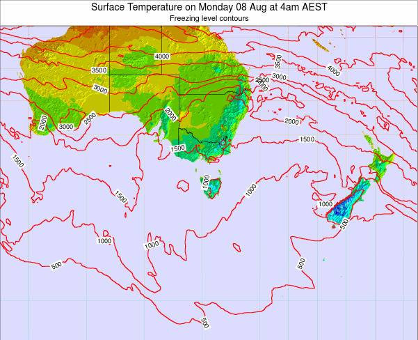 Victoria Surface Temperature on Thursday 31 Jul at 10pm EST