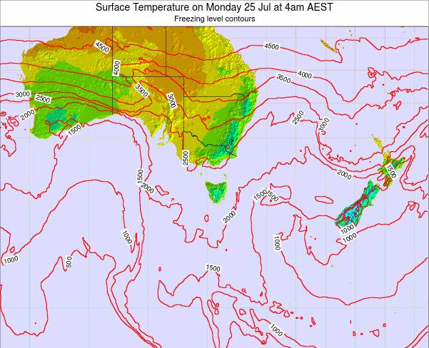 Victoria Surface Temperature on Sunday 19 May at 10am EST