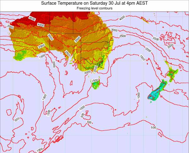 Victoria Surface Temperature on Saturday 02 Aug at 10pm EST