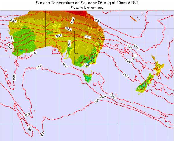 Victoria Surface Temperature on Saturday 14 Dec at 5am EST