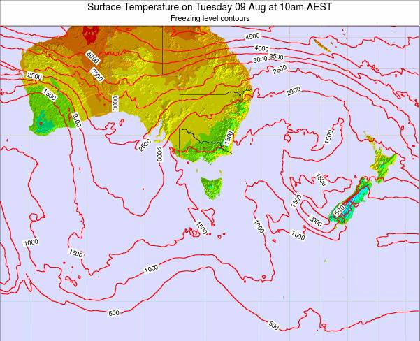 Victoria Surface Temperature on Saturday 26 Apr at 4pm EST