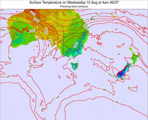 Victoria Surface Temperature on Monday 27 May at 4pm EST