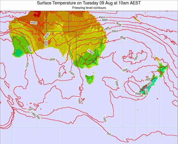 Tasmania Surface Temperature on Wednesday 22 May at 10am EST