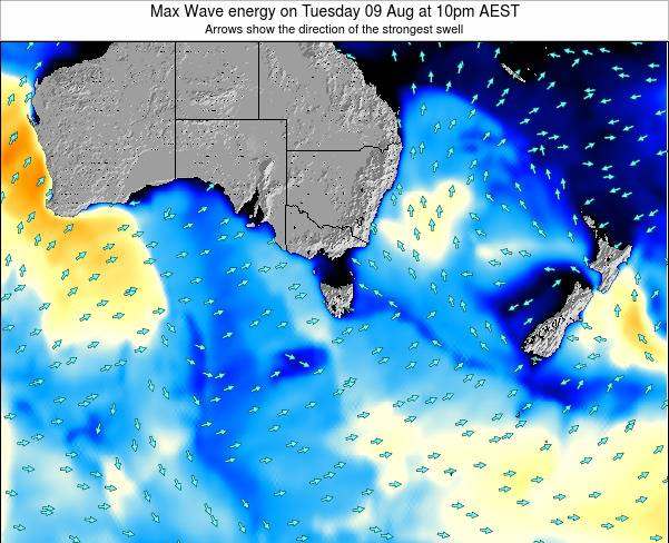 Tasmania Max Wave energy on Sunday 15 Dec at 5pm EST