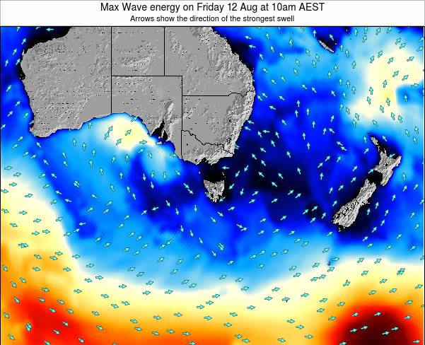 Tasmania Max Wave energy on Thursday 24 Apr at 10am EST