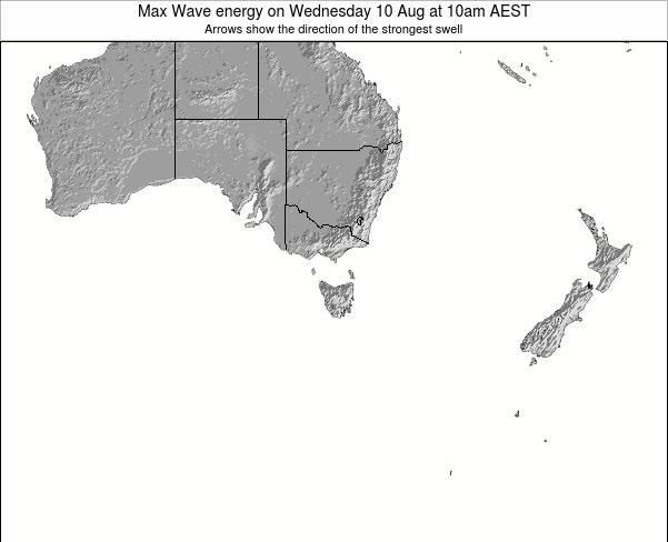 Tasmania Max Wave energy on Sunday 02 Jul at 4pm AEST