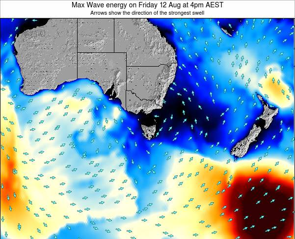 Tasmania Max Wave energy on Thursday 27 Jun at 4pm EST