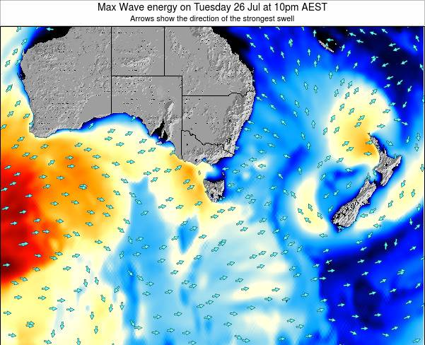 Tasmania Max Wave energy on Monday 20 May at 10am EST
