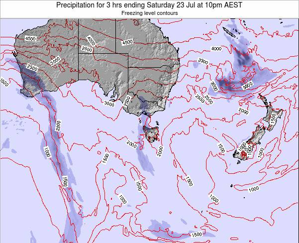 Victoria Precipitation for 3 hrs ending Monday 20 May at 10pm EST map