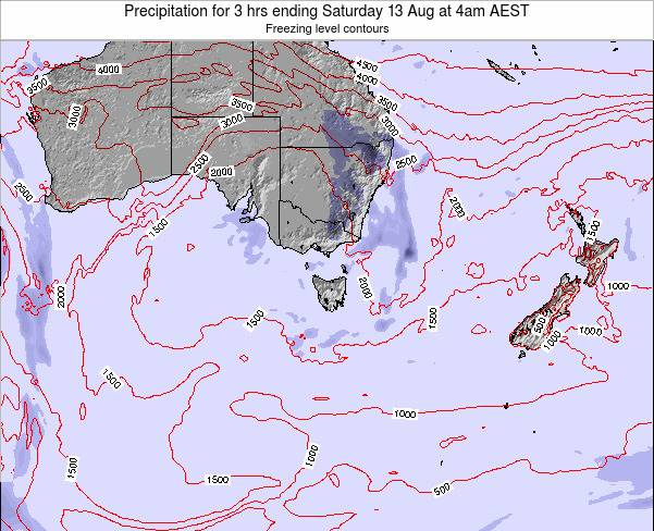 Tasmania Precipitation for 3 hrs ending Friday 24 May at 10am EST