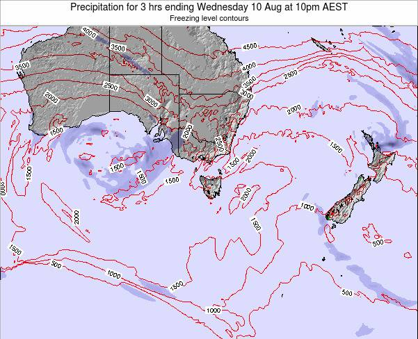 Victoria Precipitation for 3 hrs ending Saturday 15 Mar at 11am EST map
