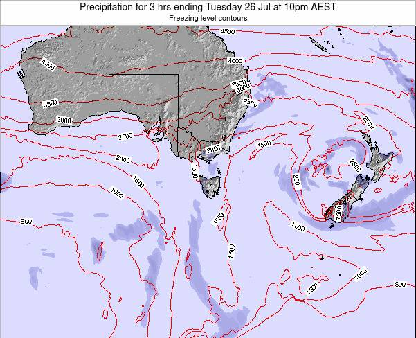 Victoria Precipitation for 3 hrs ending Friday 24 May at 4pm EST map