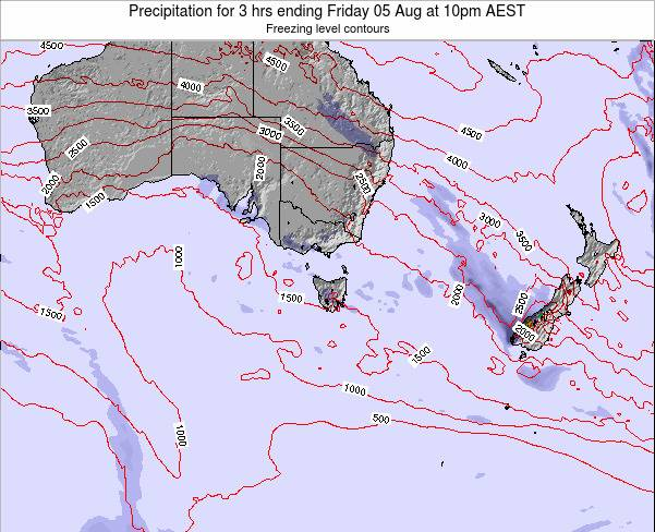 Victoria Precipitation for 3 hrs ending Friday 01 Aug at 4am EST map