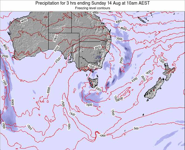 Tasmania Precipitation for 3 hrs ending Friday 02 May at 10am EST