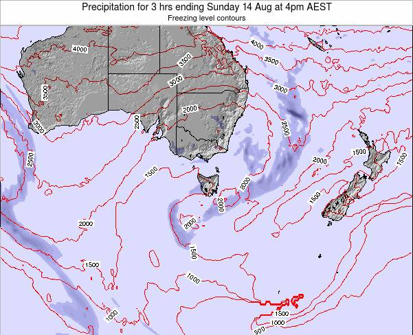 Tasmania Precipitation for 3 hrs ending Thursday 30 Nov at 11am AEDT map
