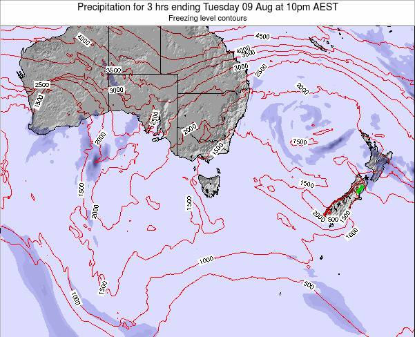Tasmania Precipitation for 3 hrs ending Monday 27 May at 10pm EST
