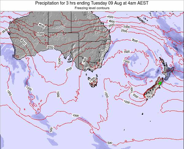 Tasmania Precipitation for 3 hrs ending Tuesday 28 May at 10am EST