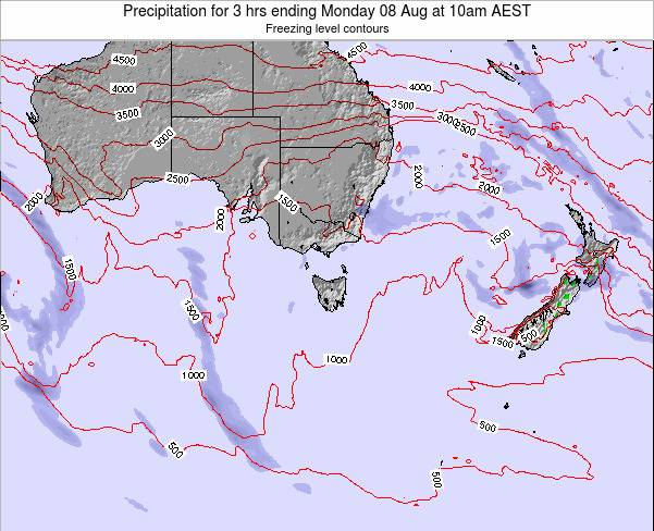 Tasmania Precipitation for 3 hrs ending Tuesday 03 May at 4pm AEST