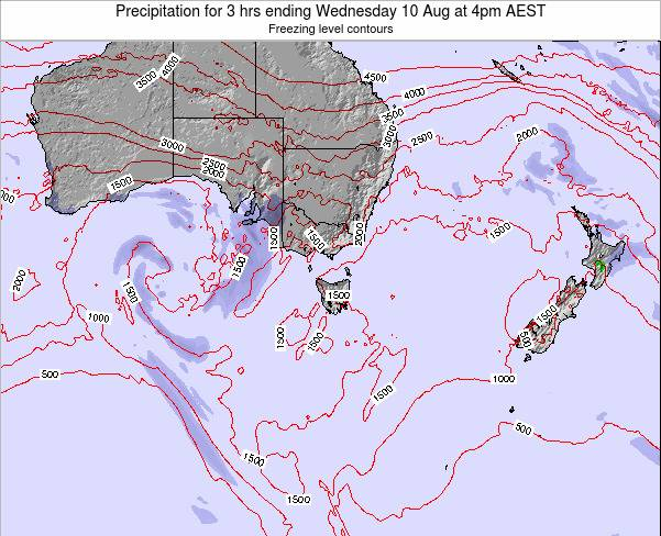 Tasmania Precipitation for 3 hrs ending Sunday 27 Apr at 4am EST