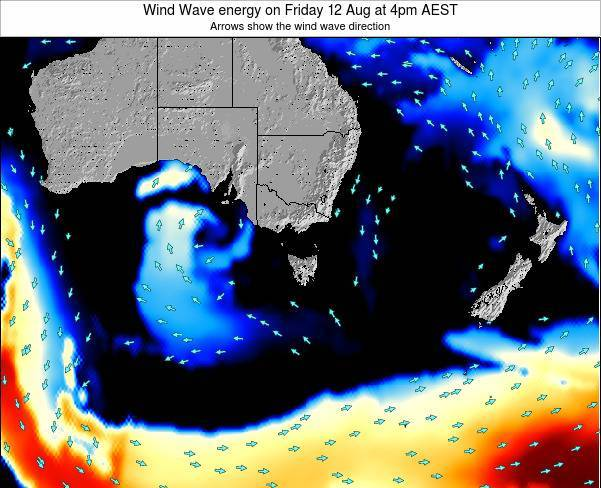 Tasmania Wind Wave energy on Tuesday 17 Dec at 5pm EST