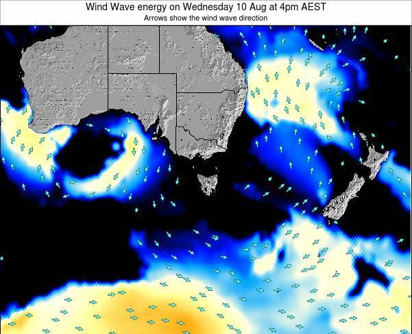 Tasmania Wind Wave energy on Saturday 01 Oct at 10am AEST