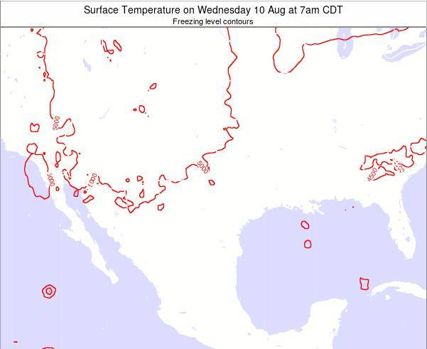 Texas Surface Temperature on Sunday 23 Jun at 7am CDT