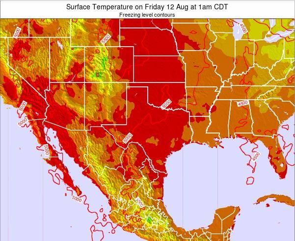 Texas Surface Temperature on Wednesday 26 Nov at 6am CST